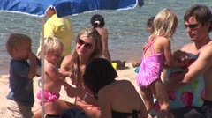 WorldClips-Sand Harbor Family-zoom Stock Footage