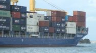 Stock Video Footage of Container Ship