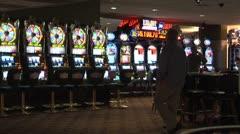 WorldClips-Slots Machine Floor-Night Stock Footage