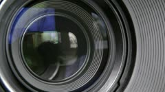 Lens photo Stock Footage
