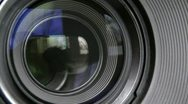 Lens photo Stock Footage