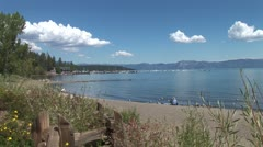 WorldClips-Tahoe City Beach Park-xws Stock Footage