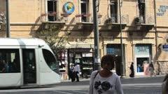 Jaffa Street Jerusalem Israel Stock Footage