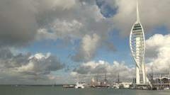 Spinnaker Tower Portsmouth Stock Footage