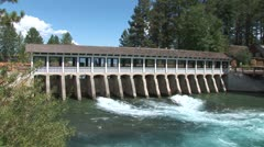 WorldClips-Tahoe City Dam-pan Stock Footage