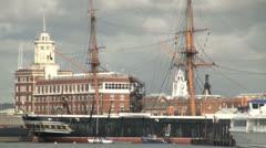 HMS Warrior Stock Footage