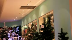 Christmas Shopping in London Stock Footage