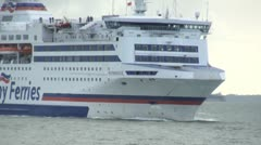 Brittany Ferry at Portsmouth Stock Footage