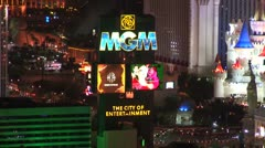 WorldClips-MGM-Night-zoom Stock Footage