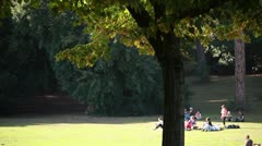 People at park - stock footage