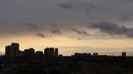 Sunset in Suburban Toronto Time-Lapse Stock Footage