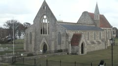 The Royal Garrison Church in Portsmouth Stock Footage
