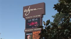 WorldClips-Wynn Sign-Le Reve-zoom Stock Footage