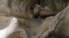 Streaming water in Saklikent canyon, Turkey Stock Footage