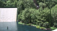 WorldClips-Wynn-Falls-pan Stock Footage