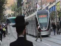 Jaffa Street Jerusalem Israel 02 Stock Footage