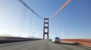 Stock Video Footage of The Golden Gate Bridge, California, USA. T/lapse