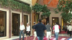 WorldClips-Wynn-Shopping Hall-2 Stock Footage