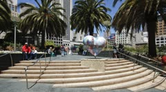 T/lapse Union square, San Francisco, USA - stock footage