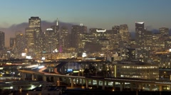 T/lapse view of fog, San Francisco, USA - stock footage