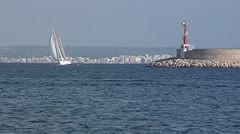 Sailing yacht 81 Stock Footage