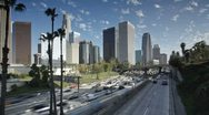 T/lapse Freeway, Los Angeles, California, USA Stock Footage