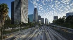 T/lapse Freeway light trails Los Angeles, California, USA - stock footage