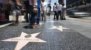 Stock Video Footage of  Hollywood Walk of Fame, Los Angeles, California, USA