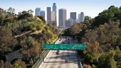 Pasadena Freeway, California, USA - Time lapse - stock footage