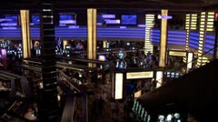 WorldClips-Casino Interior-ws Stock Footage