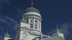 Helsinki Lutheran Cathedral, Senate Square, Suurkirkko, Storkyrkan Stock Footage