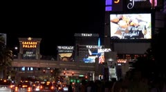 WorldClips-Middle Vegas Strip-ws-zoom Stock Footage