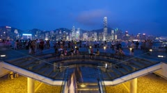 Sound and Light show, Hong Kong, China, T/lapse Stock Footage