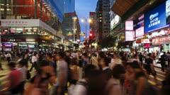 Nathan Road, Kowloon, Hong Kong, China, T/lapse Stock Footage