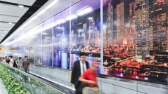 Central MTR Station, Hong Kong, China, T/lapse Stock Footage