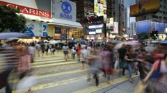 Hennessy Road Hong Kong, China, T/lapse Stock Footage