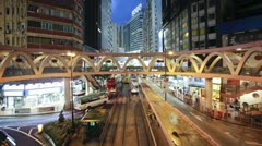 Hennessy Road in Wan Chai,  Hong Kong, China, T/lapse Stock Footage