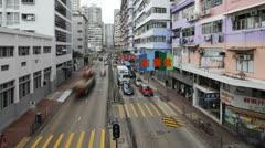Monk kok, Kowloon, Hong Kong, China, T/lapse Stock Footage