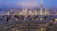 Hong Kong Skyline, Victoria harbour, China, T/lapse Stock Footage