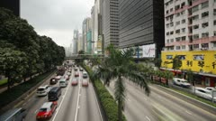 Gloucester Road in Wan Chai district, Hong Kong, China, T/lapse - stock footage
