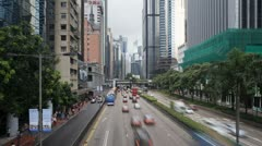 Gloucester Road in Wan Chai district, Hong Kong, China, T/lapse Stock Footage