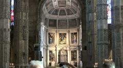 WorldClips-Jeronimos Monastery Murals-tilt Stock Footage