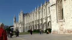 WorldClips-Jeronimos Monastery-zoom-tilt Stock Footage