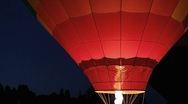 Stock Video Footage of Hot Air Balloon Night Glow