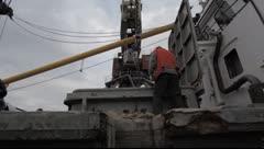 Port crane worker - stock footage