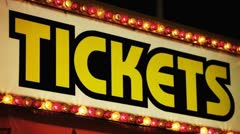 Carnival Ticket Booth At Night Stock Footage