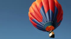 Hot Air Ballon Flies Skyward Stock Footage