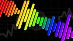Sonic Tonic Black Diagonal Loop Stock Footage