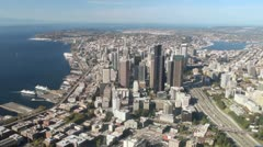 Downtown Seattle Aerial View - stock footage