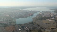 Port of Tacoma from the Air Stock Footage